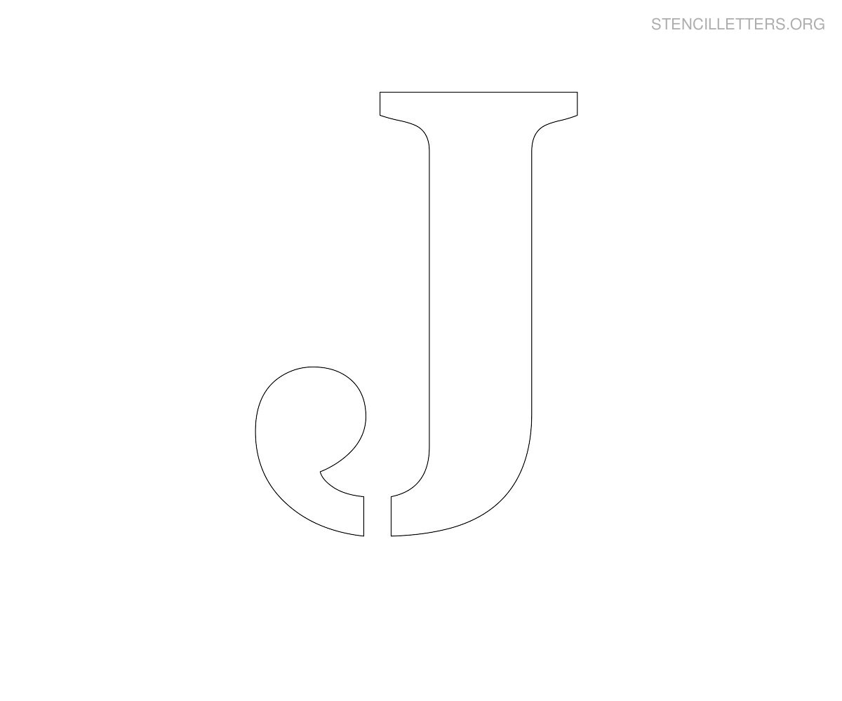 stencil letter large j