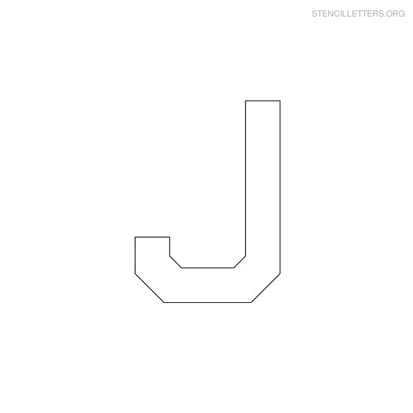 Stencil Letter Military J