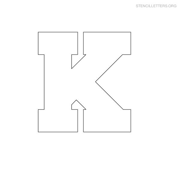 Stencil letters k printable free k stencils stencil letters org stencil letter block k spiritdancerdesigns Images