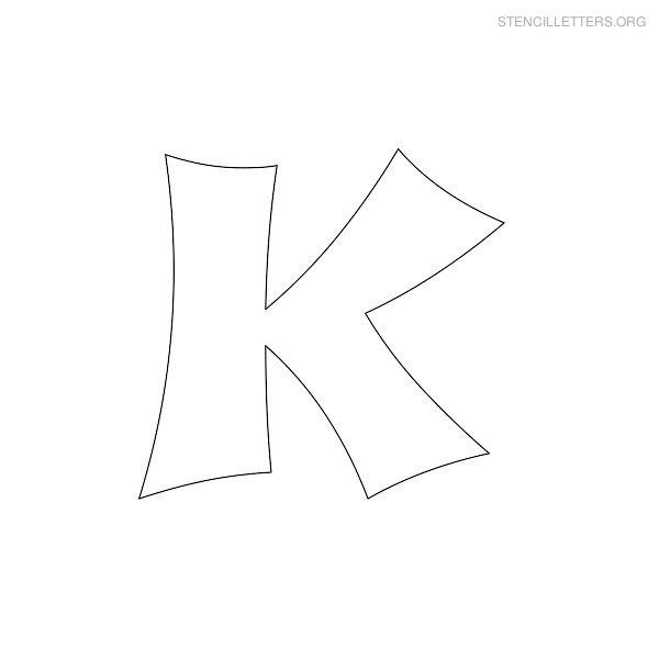 Stencil Letter Japanese K