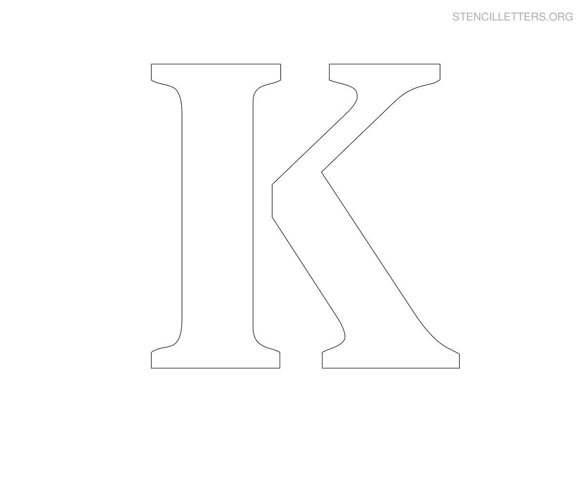 Stencil Letters K Printable Free K Stencils | Stencil Letters Org