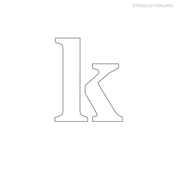 Lowercase Letter K Stencil Letter Lowercase K