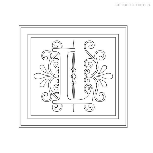 Stencil Letter Decorative L
