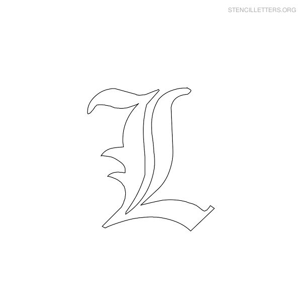 gothic letter stencils