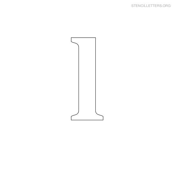 stencil letter lowercase l