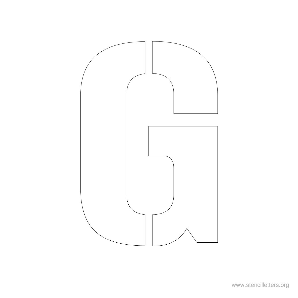 Large Stencil Letters Style #1 G