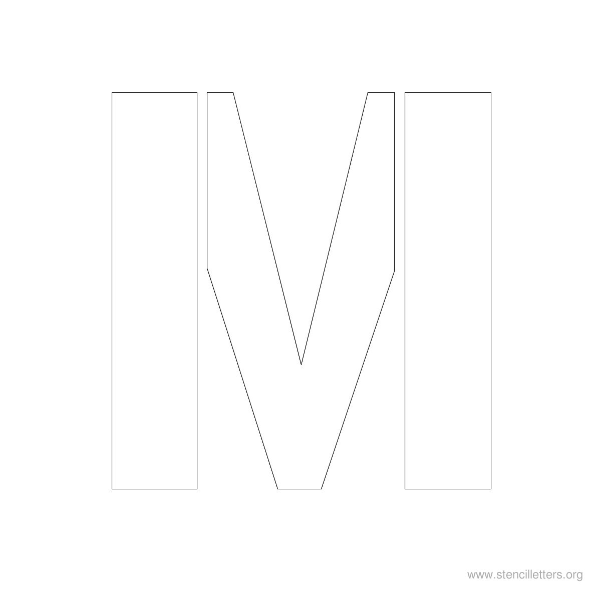 big letter m search results for printable stencils letters calendar 1200