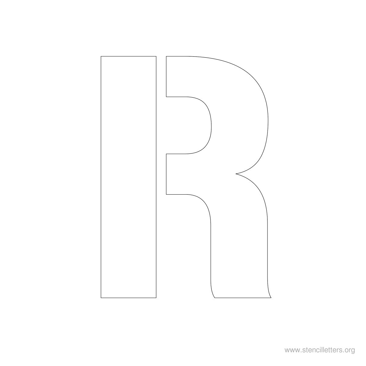 Large Stencil Letters Style #1 R
