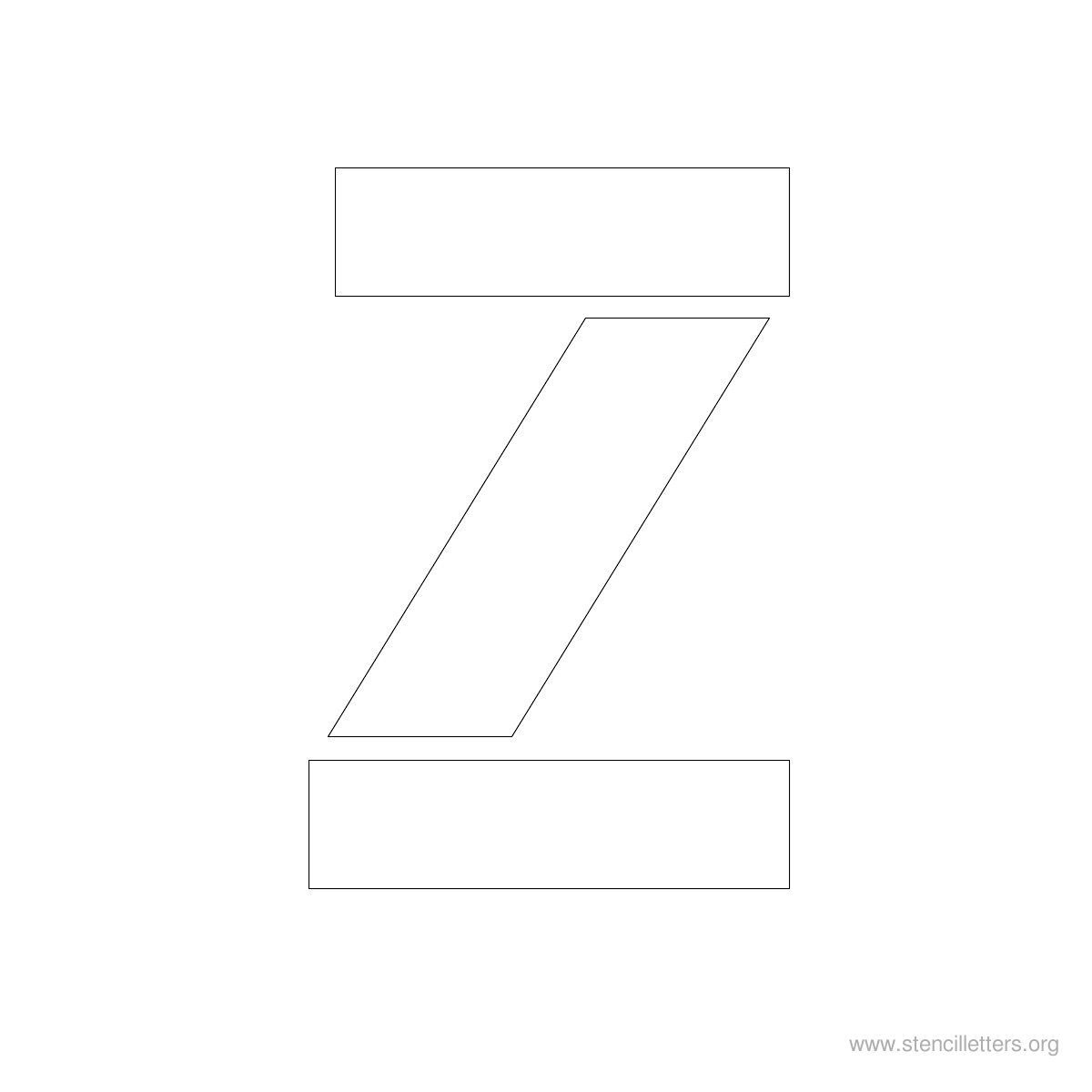Large Stencil Letters Style #1 Z