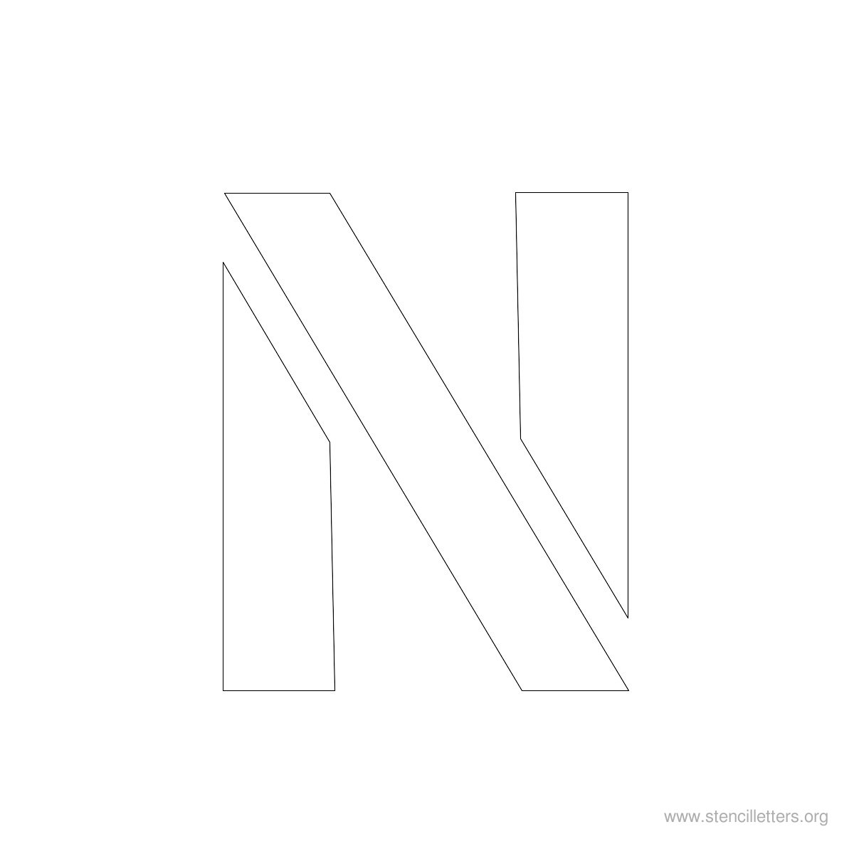 Large Stencil Letters Style #2 N
