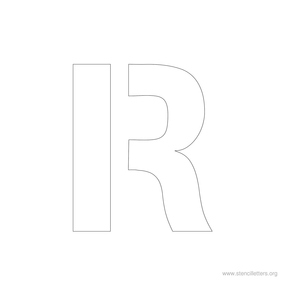 Large Stencil Letters Style #2 R