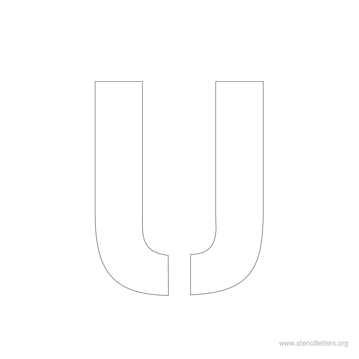 Large Stencil Letters Style #2 U