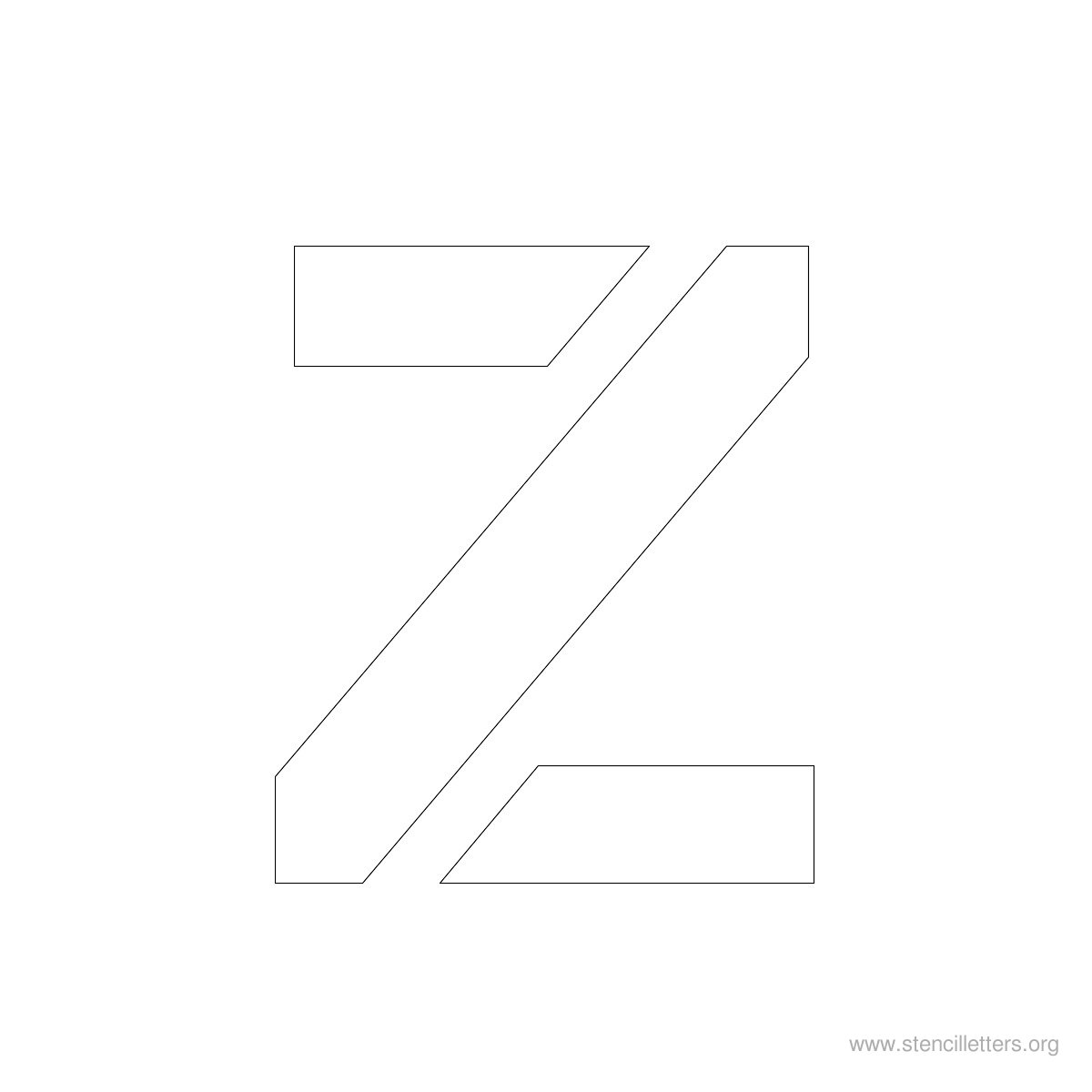 Large Stencil Letters Style #2 Z