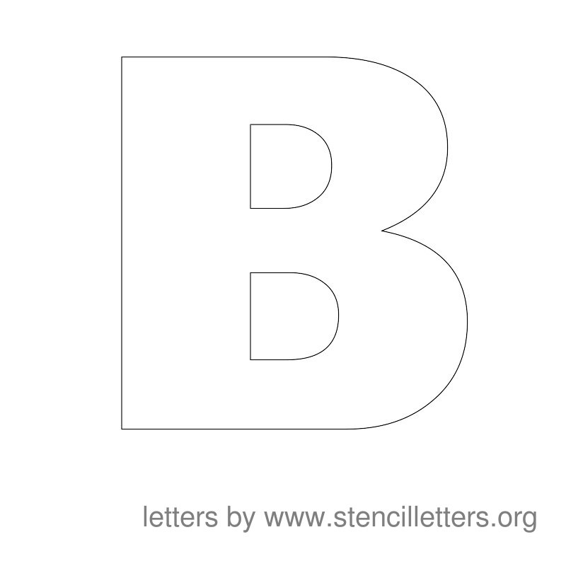 Large Stencil Letters | Stencil Letters Org