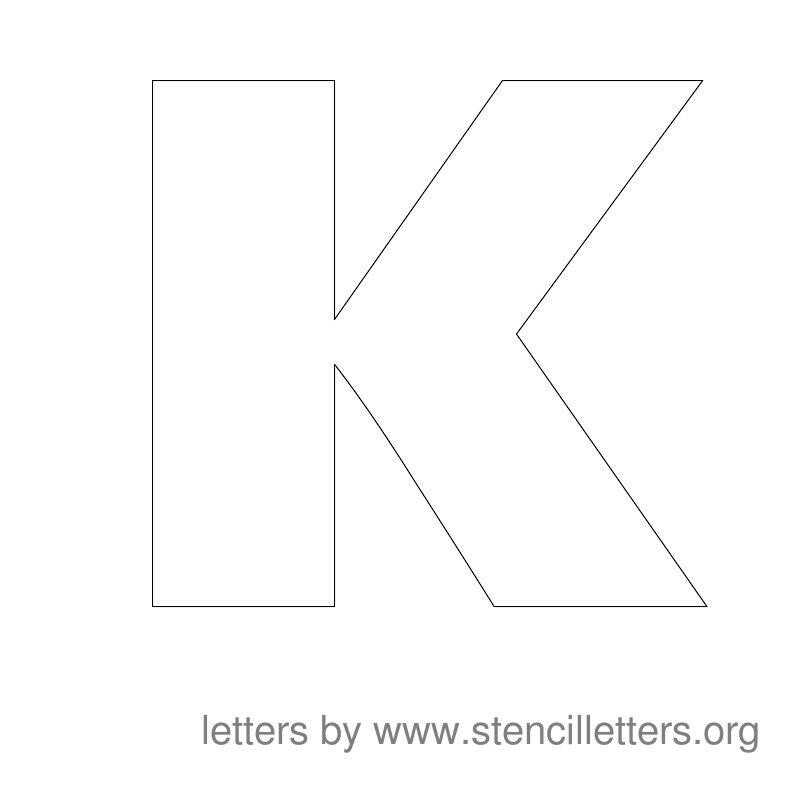 large stencil letters alphabet k