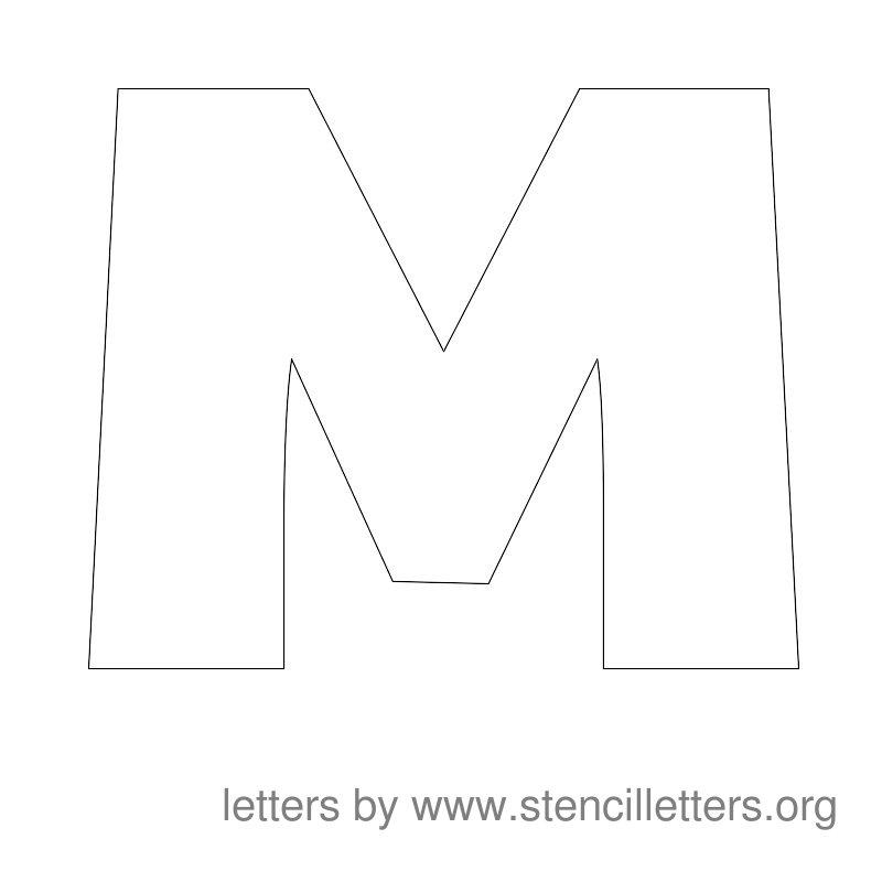 Large Stencil Letters