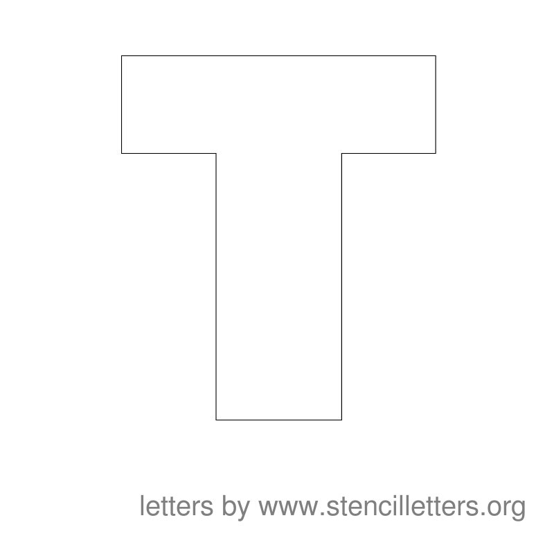 Large Stencil Letters | Stencil Letters Org