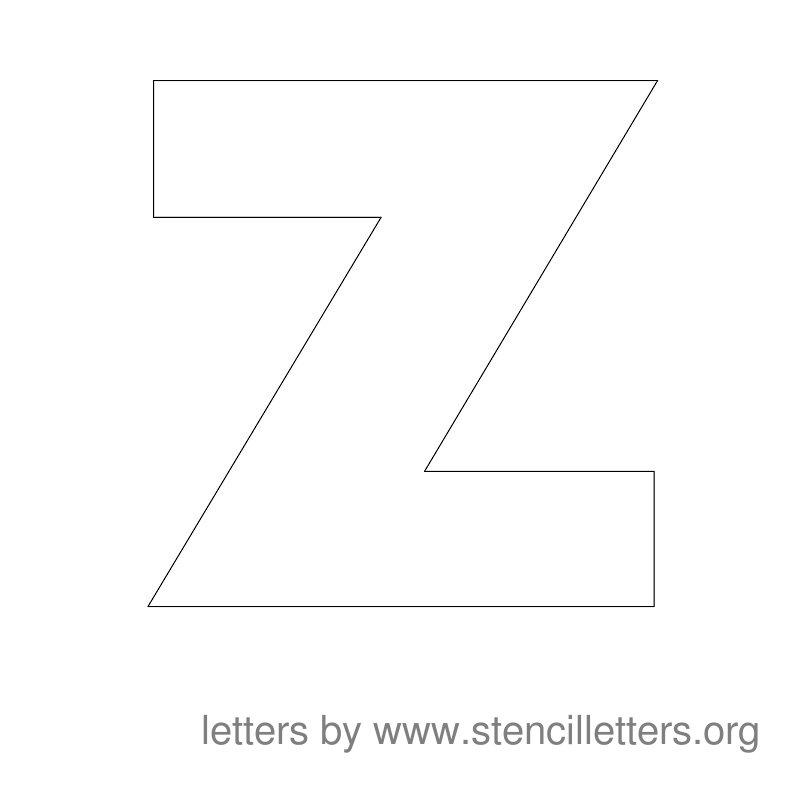Z Alphabet Letter Large Stencil Letters Z