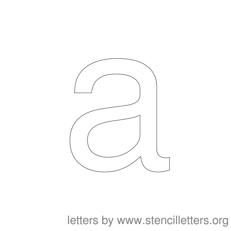 Lowercase Letter Stencil Large A
