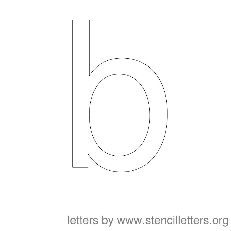 Lowercase Letter Stencil Large B