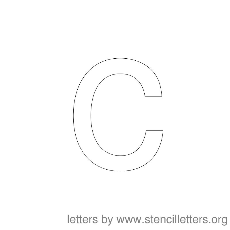 Lowercase Letter Stencil Large C