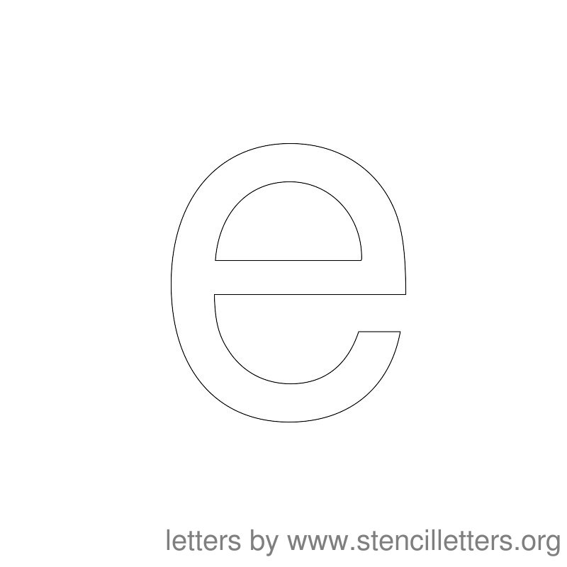 Lowercase Letter Stencil Large E