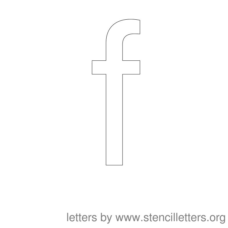 Lowercase Letter Stencil Large F