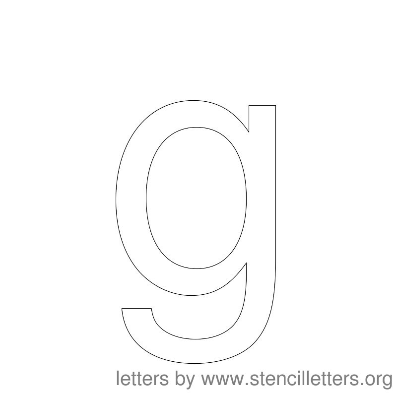 Lowercase Letter Stencil Large G