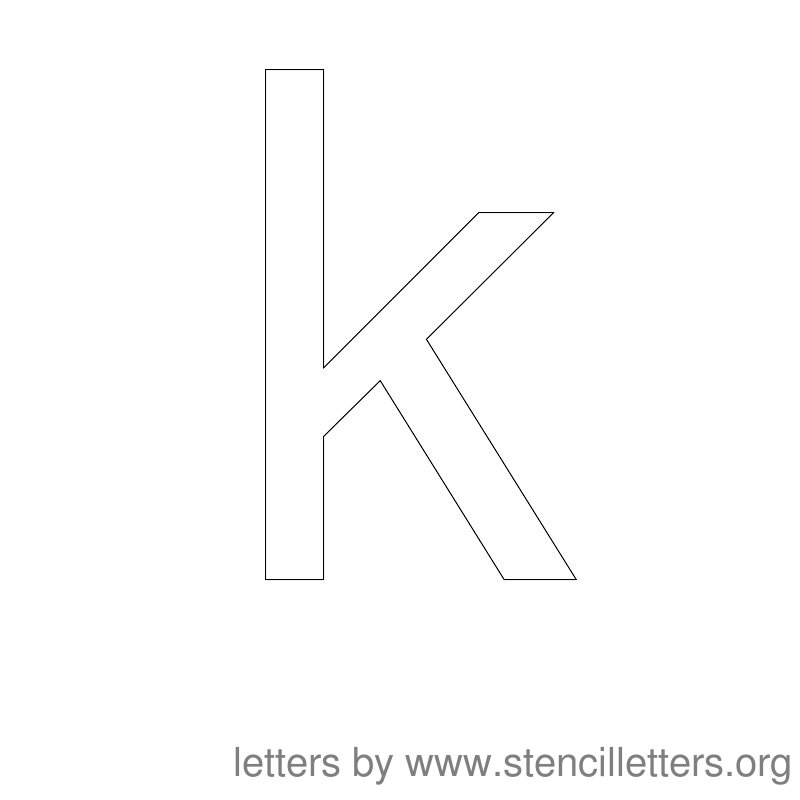 Lowercase Letter Stencil Large K