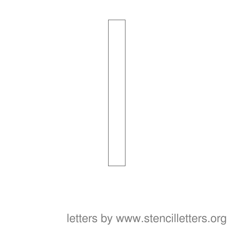 Lowercase Letter Stencil Large L