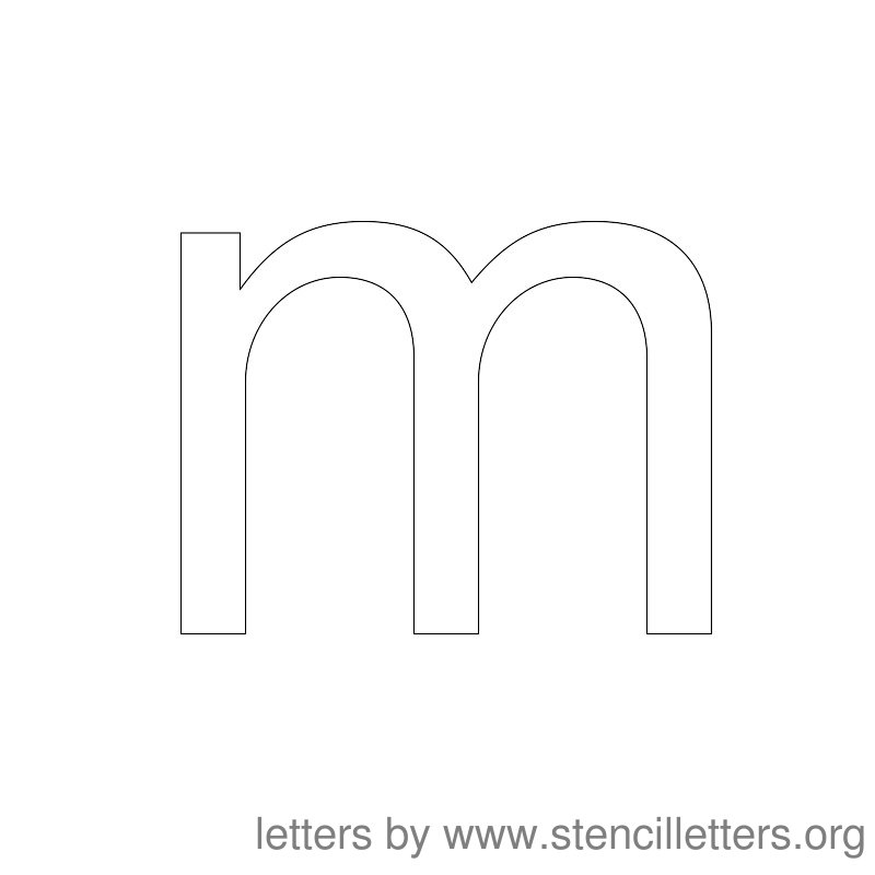 Lowercase Letter Stencil Large M