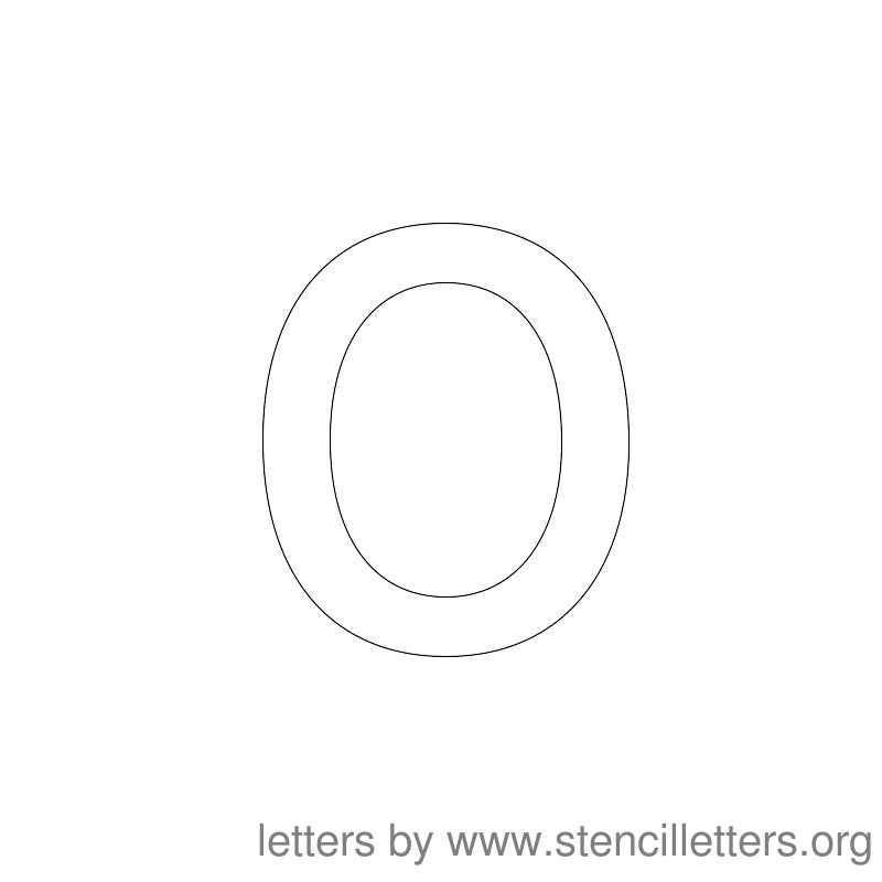 Lowercase Letter Stencil Large O