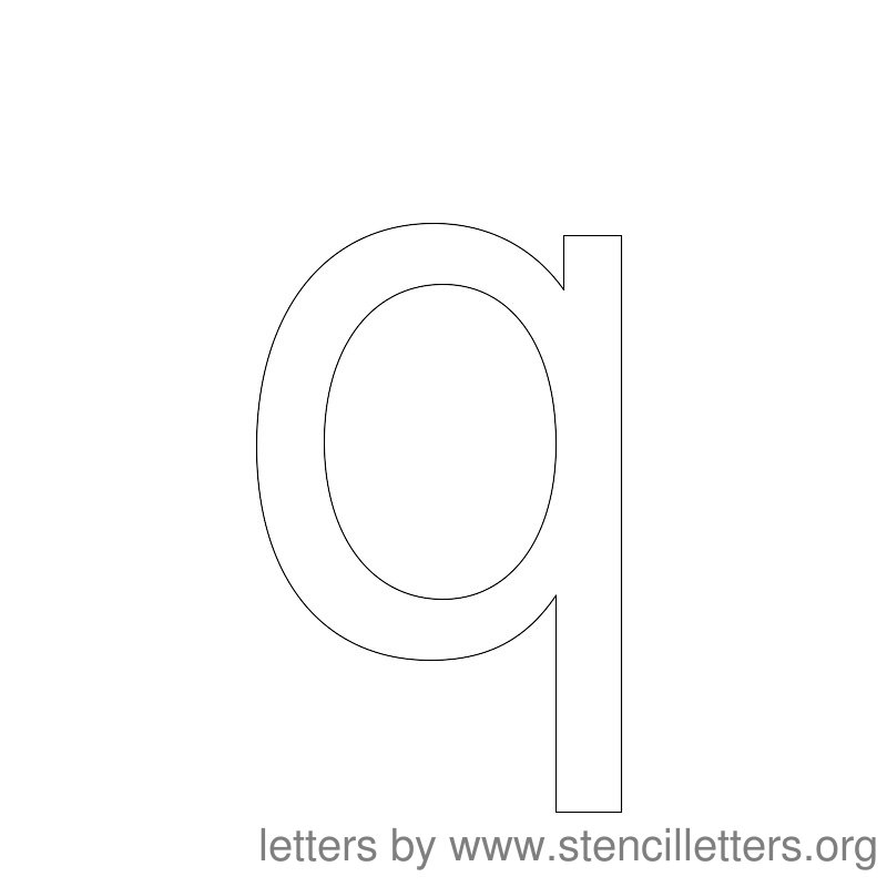 Lowercase Letter Stencil Large Q
