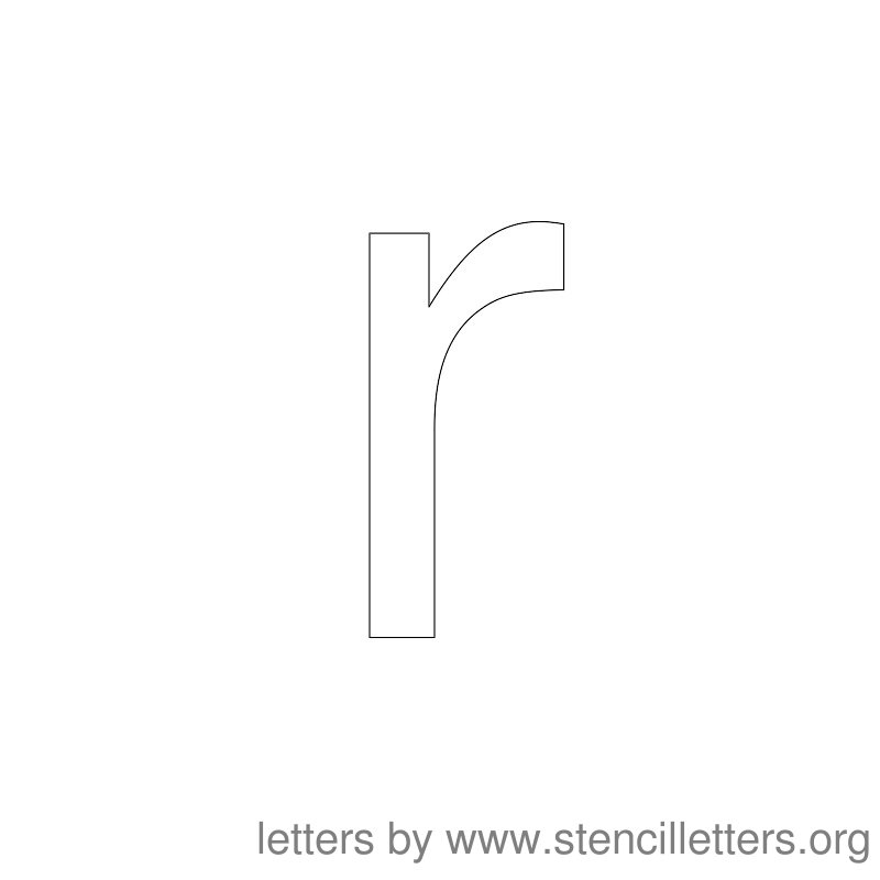 Lowercase Letter Stencil Large R
