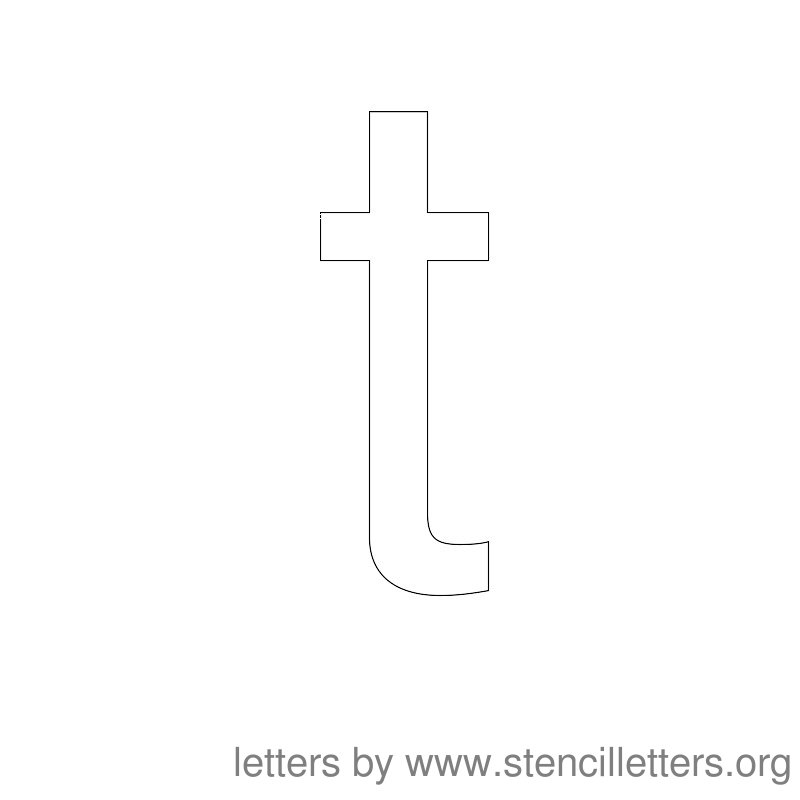 Lowercase Letter Stencil Large T