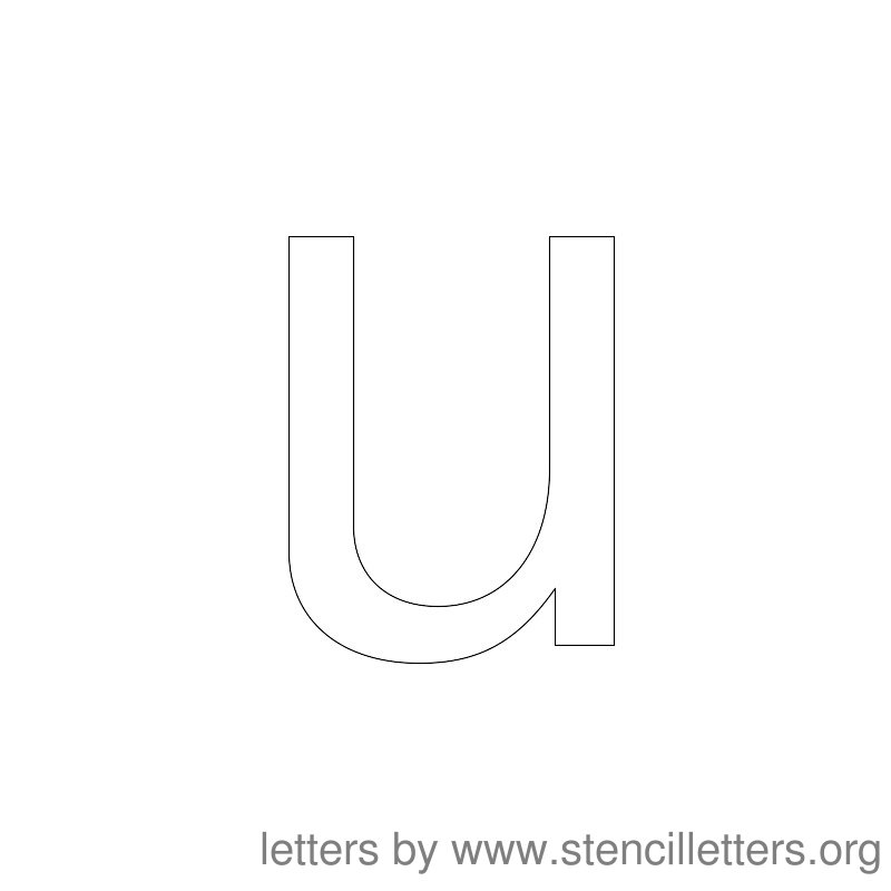 Lowercase Letter Stencil Large U