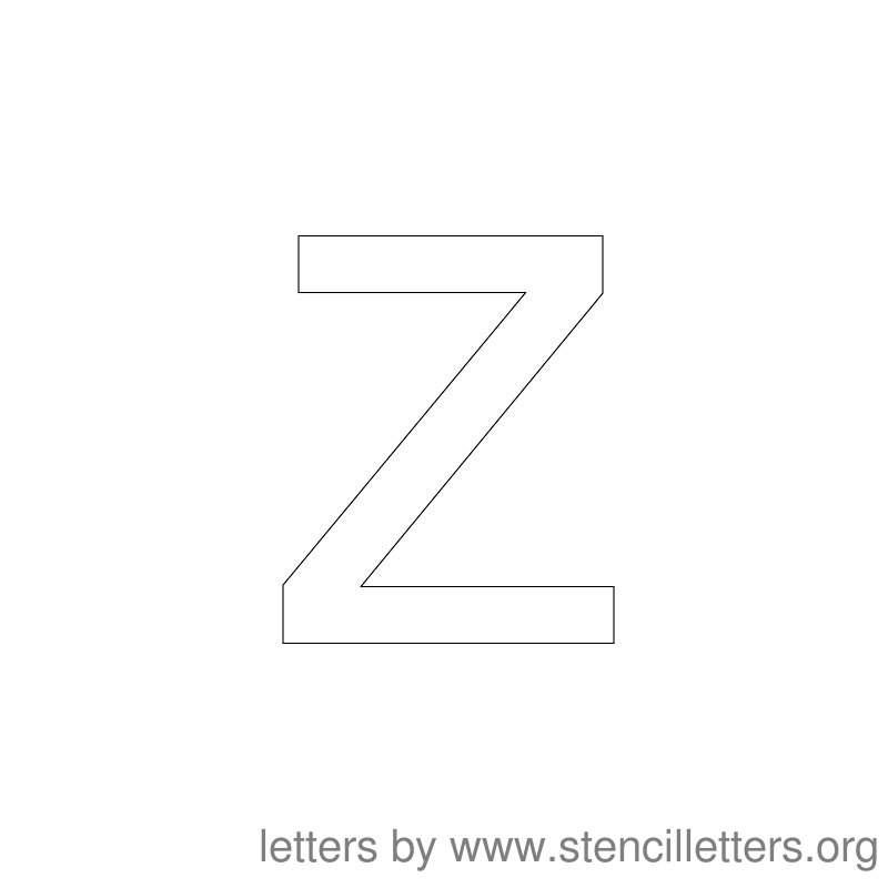 Lowercase Letter Stencil Large Z