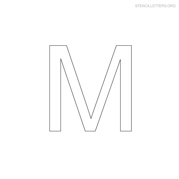 Stencil Letter Arial M