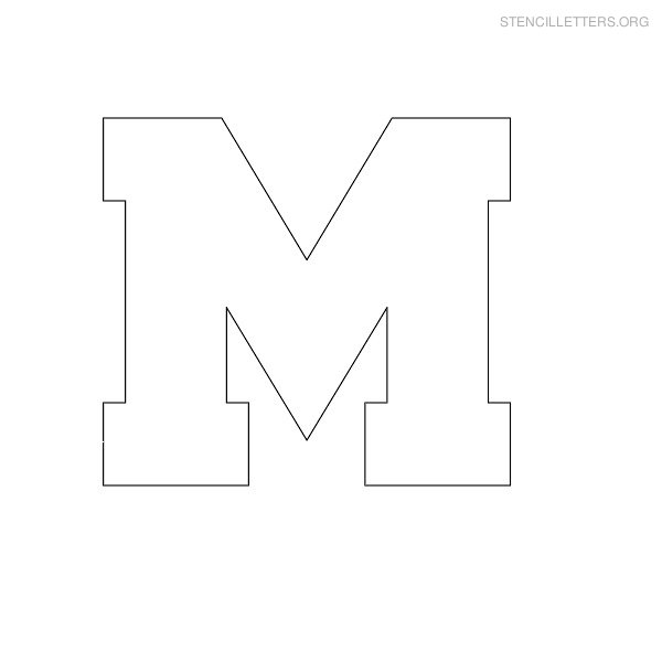 block letter m Colouring Pages (page 2)