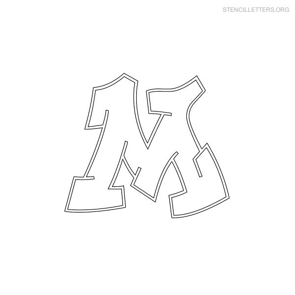 photograph relating to Printable Graffiti Stencils titled Stencil Letters M Printable Totally free M Stencils Stencil