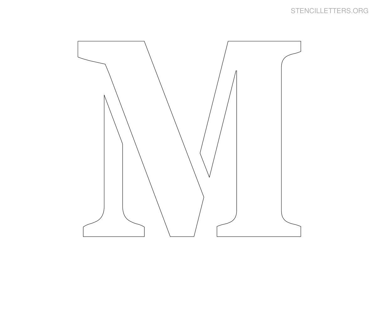 stencil letter large m