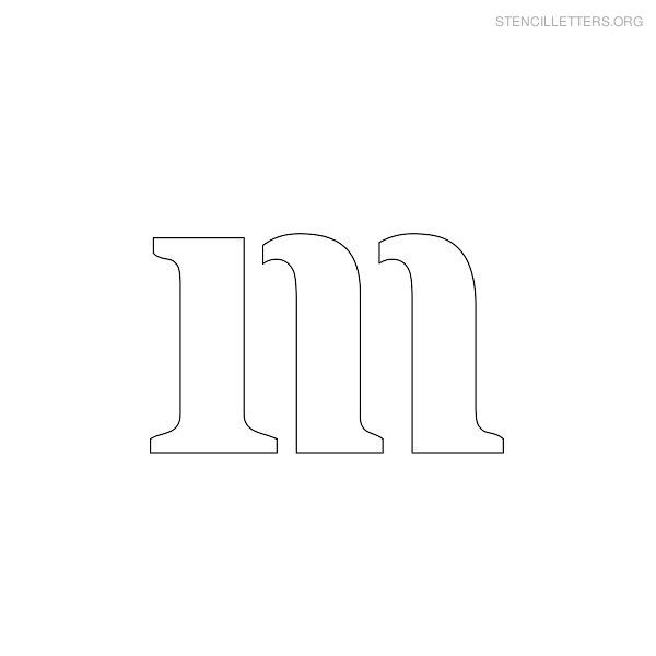 lowercase-stencil-letter-m Old English Letters Lowercase Template on cut out, stencils free printable,