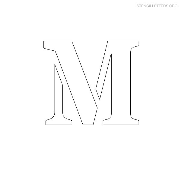 Stencil Letter Uppercase M
