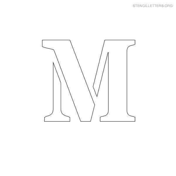 Stencil Letters M Printable Free M Stencils