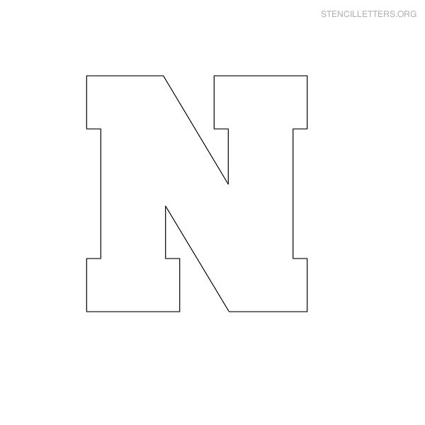 image regarding Letter N Printable identified as Stencil Letters N Printable Totally free N Stencils Stencil