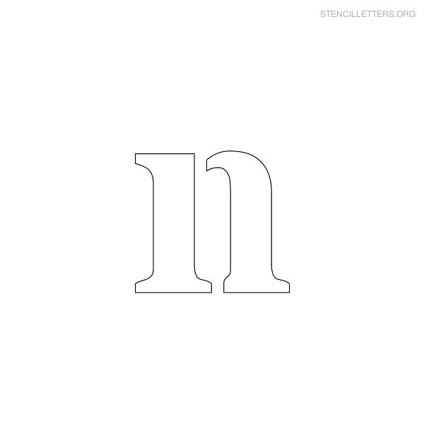 Stencil Letter Lowercase N