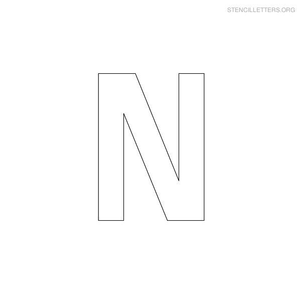 Stencil Letters N Printable Free N Stencils | Stencil ...