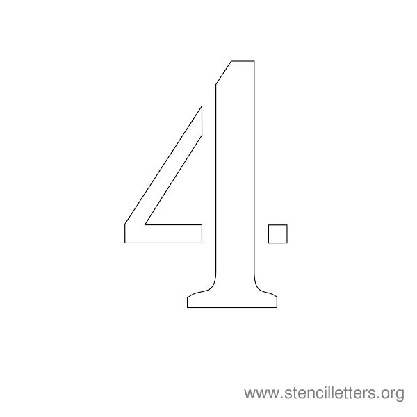 picture regarding Printable Number 4 called Variety Stencils 1-10 Stencil Letters Org