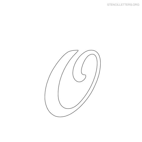 stencil letter cursive o