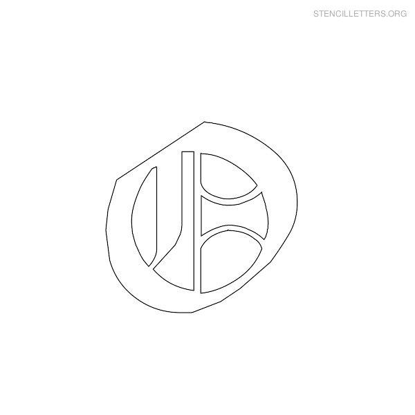 Stencil Letters O Printable Free O Stencils | Stencil Letters Org